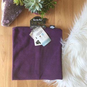 NWT turtle fur purple fleece neck warmer